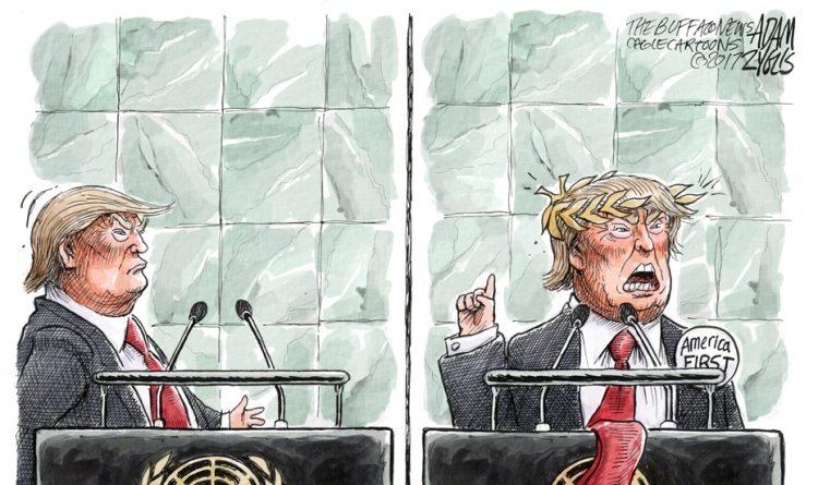 Adam Zyglis: UN Speech