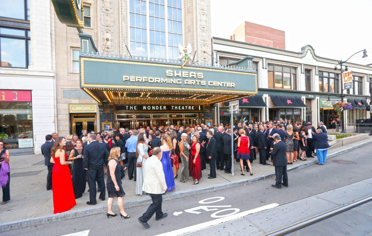Curtain Up! celebration outside of Shea's and on the stage of Shea's on Friday, Sept. 16, 2016.  (Robert Kirkham/Buffalo News)