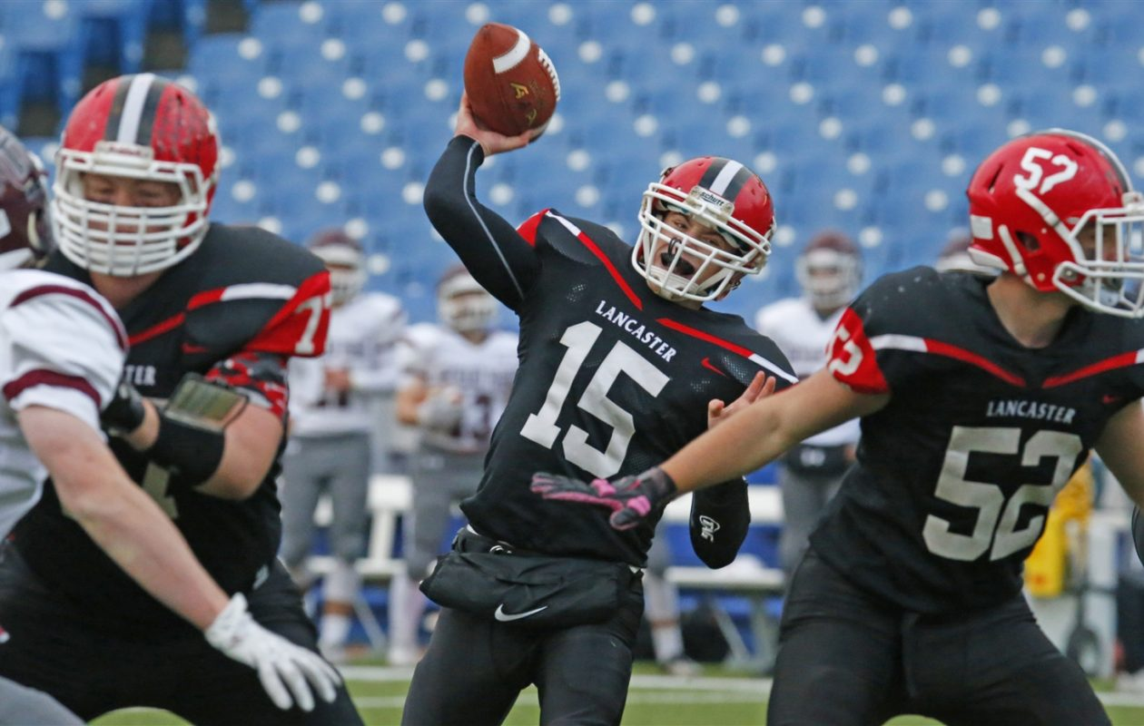For the second week in a row, Ryan Mansell and the Lancaster Legends are ranked second among Class AA teams in the New York State Sportswriters Association poll. (Harry Scull Jr./Buffalo News file photo)