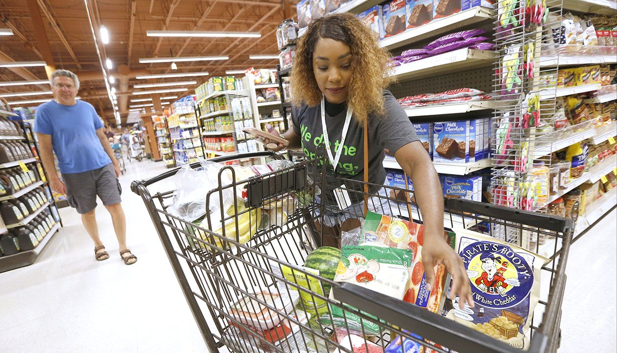 Brianna Johnson of Buffalo is a professional shopper.  (Robert Kirkham/News file photo)