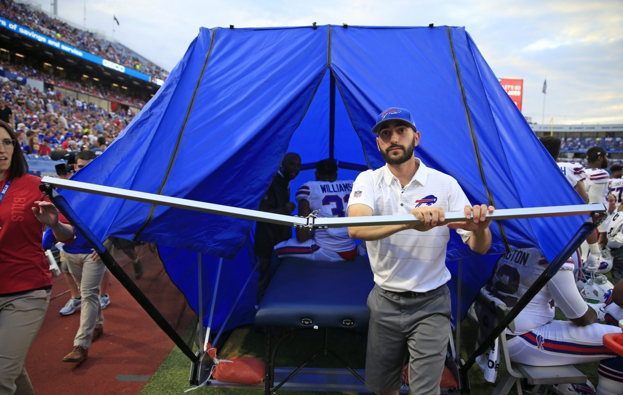The Bills were one of the NFL teams that pushed for approval to use a medical tent for sideline examinations.  (Harry Scull Jr./Buffalo News)