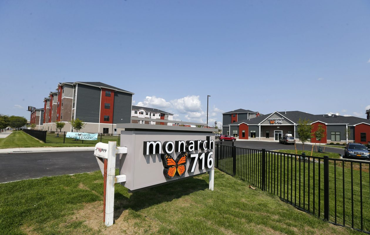 DHD Ventures, co-owned by Thomas Masaschi of Rochester, is seeking a buyer for the Monarch 716 complex at 100 Forest Ave., which is now the subject of foreclosure proceedings. (Mark Mulville/Buffalo News file photo)