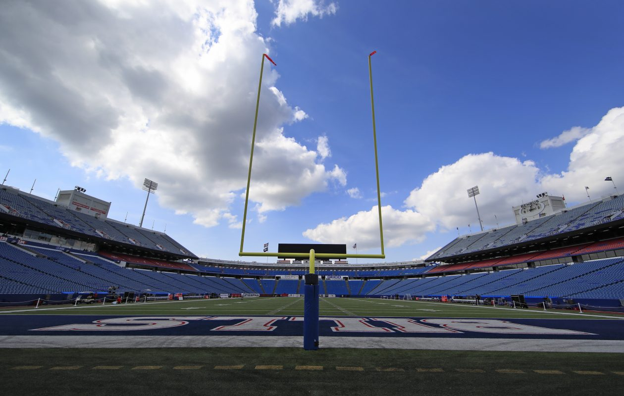 The weather forecast is looking good for the Bills' home opener on Sunday.  (Harry Scull Jr./Buffalo News)