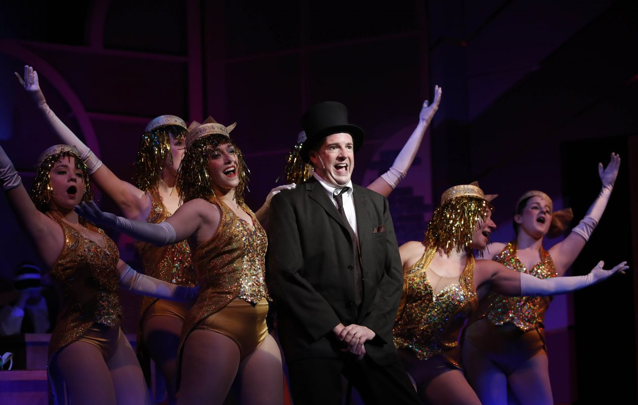 "Brian Mysliwy stars as Leo Bloom in the Kavinoky Theatre's production of ""The Producers."" (Sharon Cantillon/Buffalo News)"