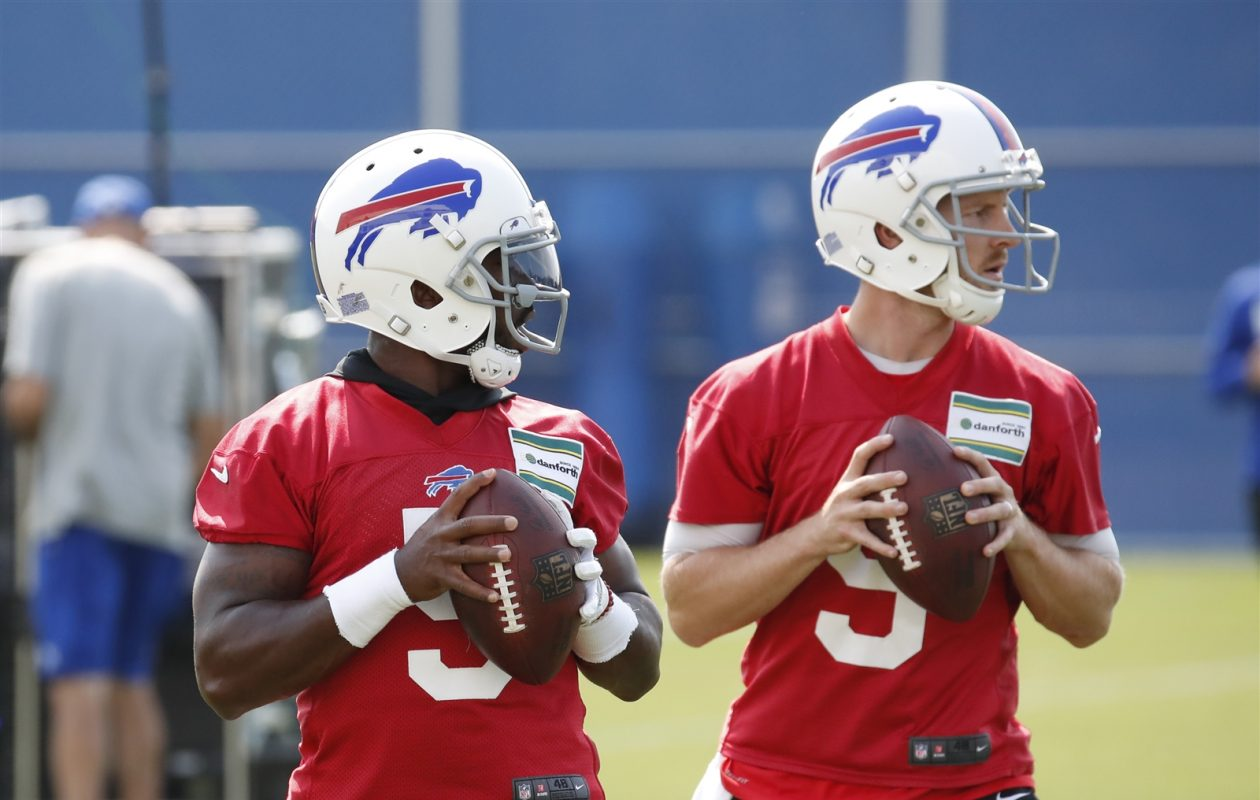 Bills QB Tyrod Taylor and T.J. Yates were both in concussion protocol this summer. (Harry Scull Jr./Buffalo News)