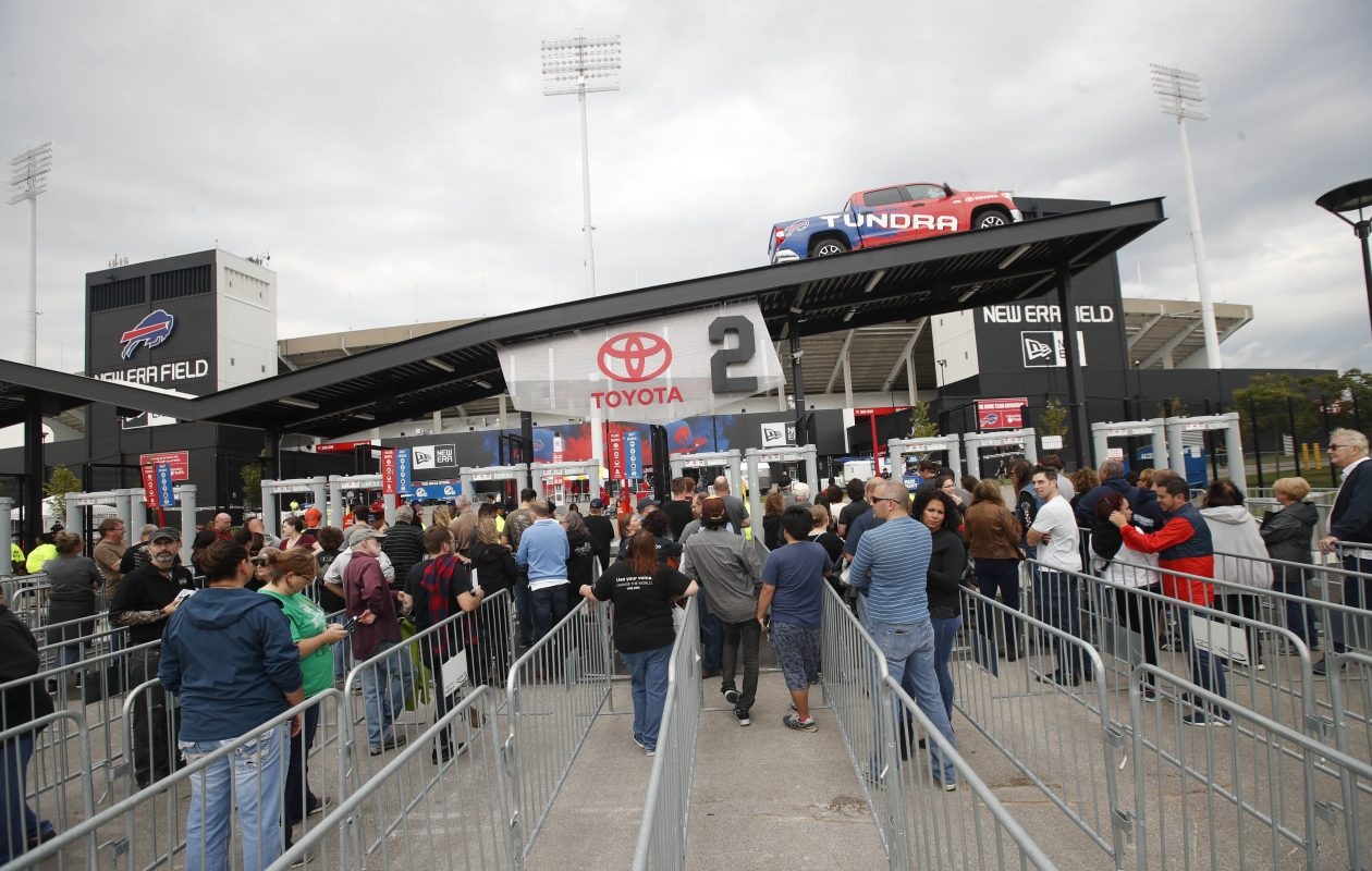 U2 fans tailgate in advance of The Joshua Tree 2017 Tour at New Era Field in Orchard Park, Tuesday, Sept. 5, 2017.  The eager fans wait for the gate to open at 5:30. (Sharon Cantillon/Buffalo News)