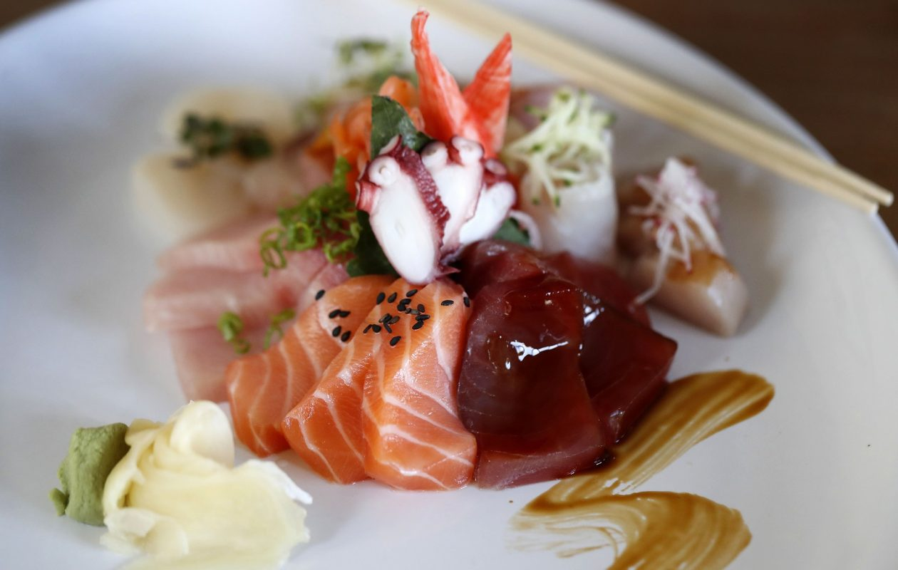 Large sashimi presentation at Yoshi in East Aurora. (Mark Mulville/Buffalo News)