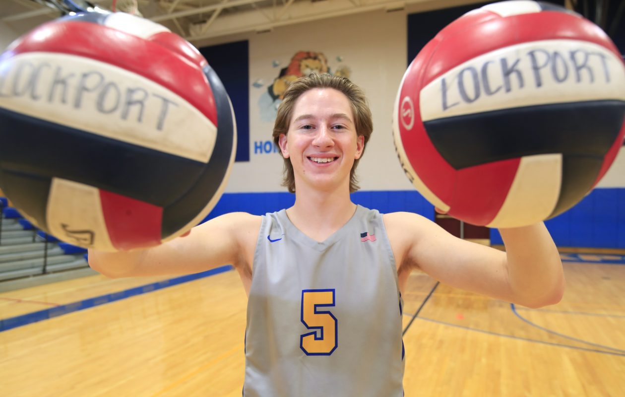 Lockport boys volleyball player Marc Bixby is the Prep Talk Male Athlete of the Week. (Harry Scull Jr./Buffalo News)