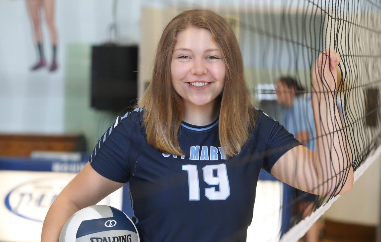 St. Mary's girls volleyball player Jillian Vitale is the Prep Talk Female Athlete of the Week. (Harry Scull Jr./Buffalo News)