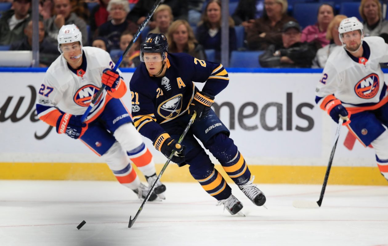 Kyle Okposo and the Sabres need to avoid slow starts like the one they had Friday against New York. (Harry Scull Jr./Buffalo News)