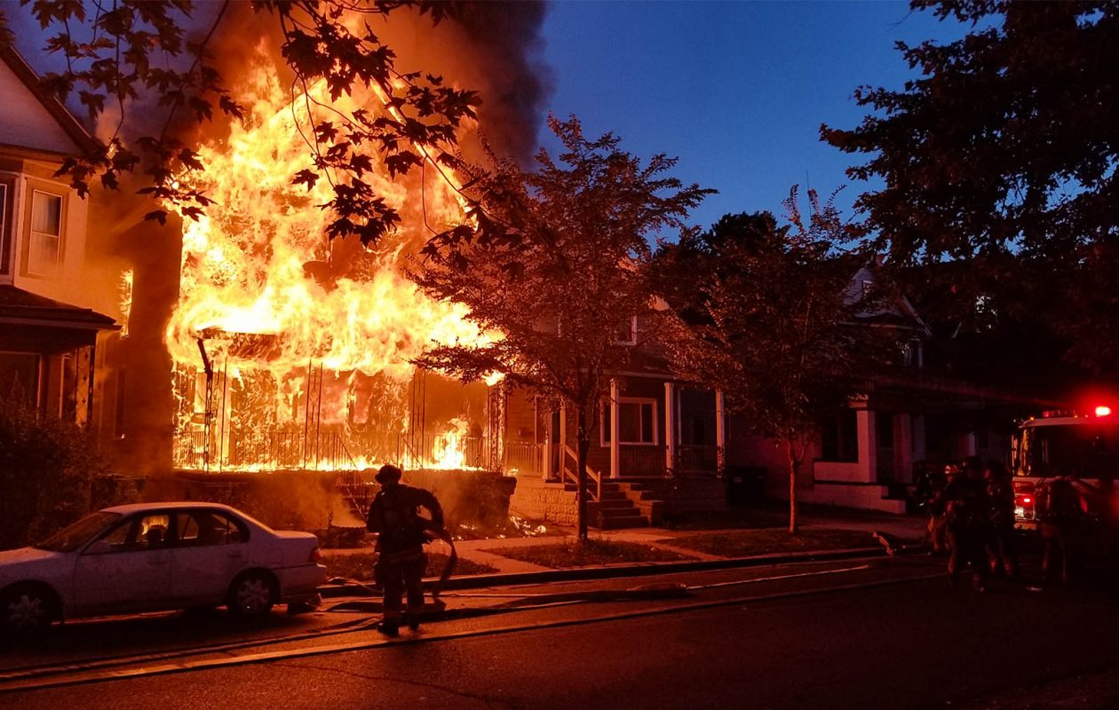 Buffalo firefighters battle a large house fire on Massachusetts Avenue, near Prospect Avenue, on Friday, Sept. 22, 2017. (David F.Kazmierczak / Special to The Buffalo News)
