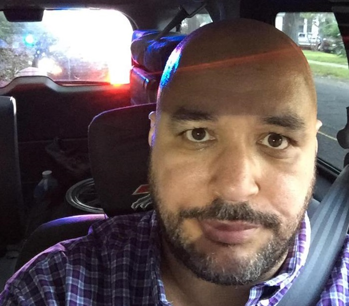 Yonkers-based Bills fan John Rivera had a fortuitous interaction with a police officer after running a stop sign. (via John Rivera)