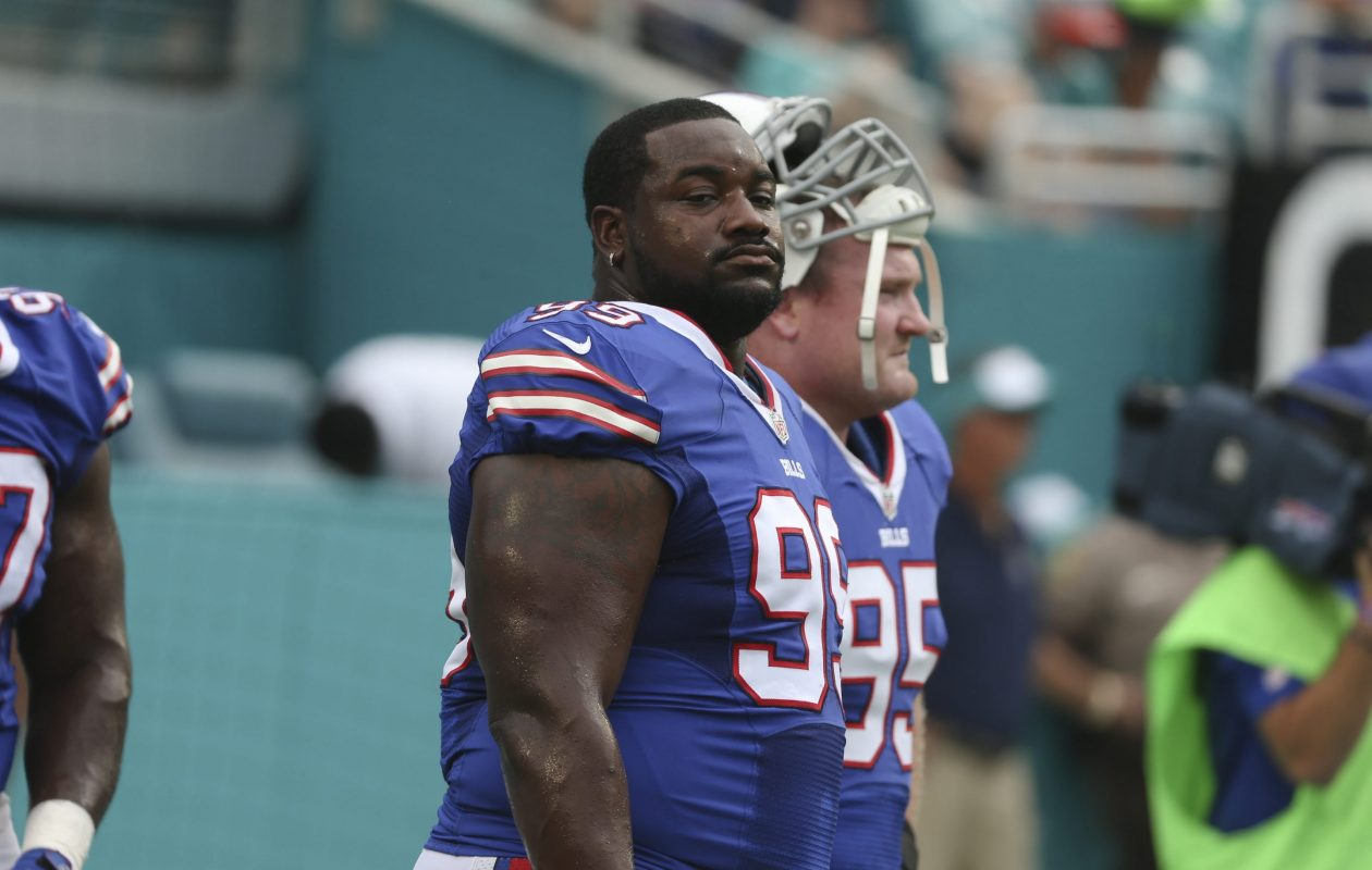 Marcell Dareus carries a team-high salary cap of over $16 million, but the Bills' defensive tackle saw his playing drop considerably in Week 1 vs. the New York Jets (James P. McCoy/ Buffalo News file photo)