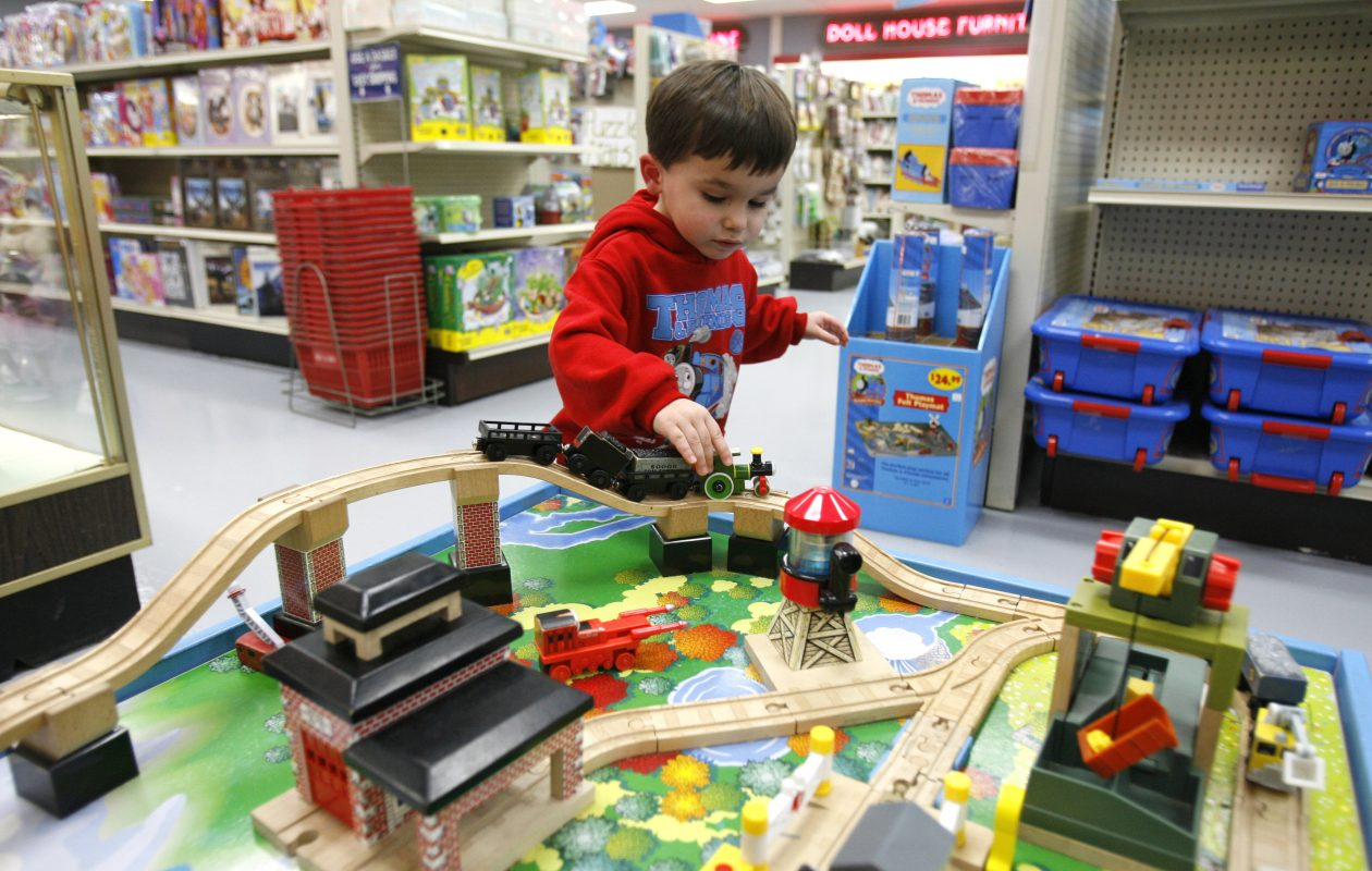 A boy plays at the Niagara Hobby and Craft Mart while his family was shopping there.  (Buffalo News file photo)