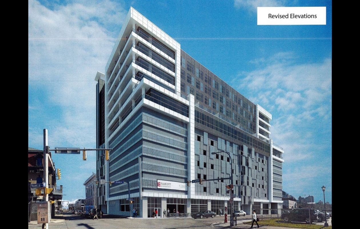 A 12-story, mixed-use tower is planned for the project at 500 Pearl.