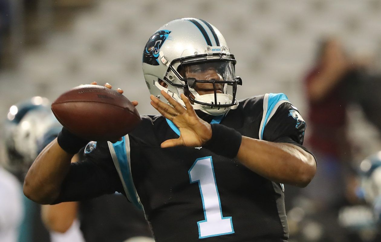 Cam Newton and the Carolina Panthers will take on the San Francisco 49ers this week. (Getty Images)