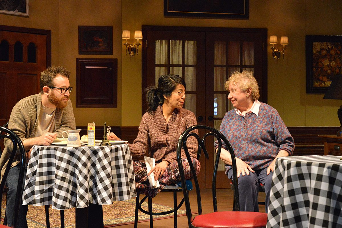 """Adam Yellen, left, Sara Kow-Falcone and Darleen Pickering Hummert appear in Road Less Traveled Theatre's season-opening production of """"John."""""""