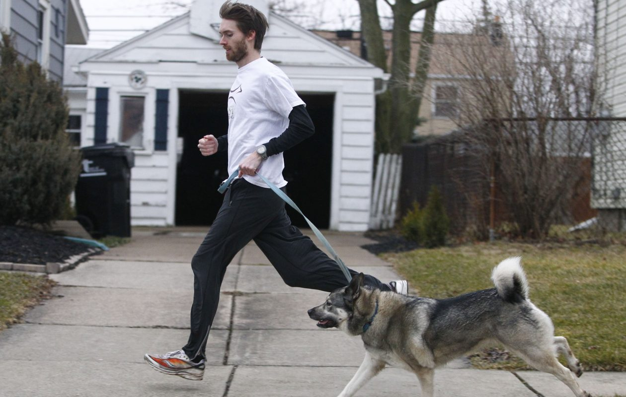 Chris Muldoon found a new enthusiasm for running thanks in part to his dog.  {Photo by John Hickey / Buffalo News}