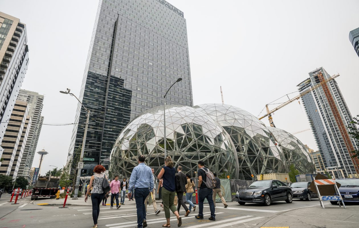 Amazon has 40,000 workers at its Seattle headquarters. The company's planned second headquarters with up to 50,000 employees will remake the winning city. (New York Times photo)