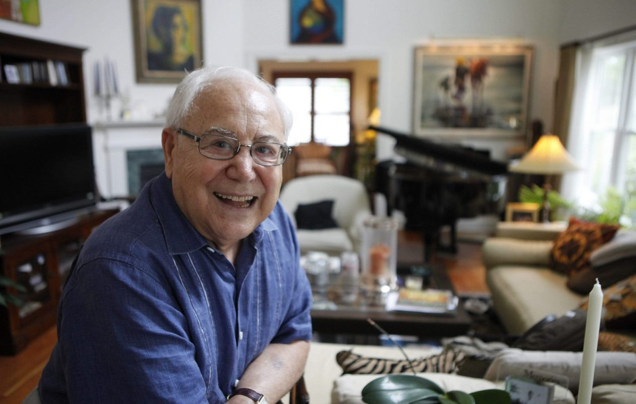 Vocal coach Andy Anselmo in his Williamsville home in 2012. (Derek Gee/Buffalo News)