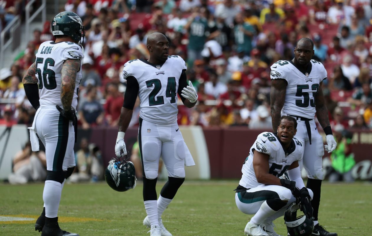 Safety Corey Graham and the Eagles are flying high with an 8-1 record. (Getty Images)