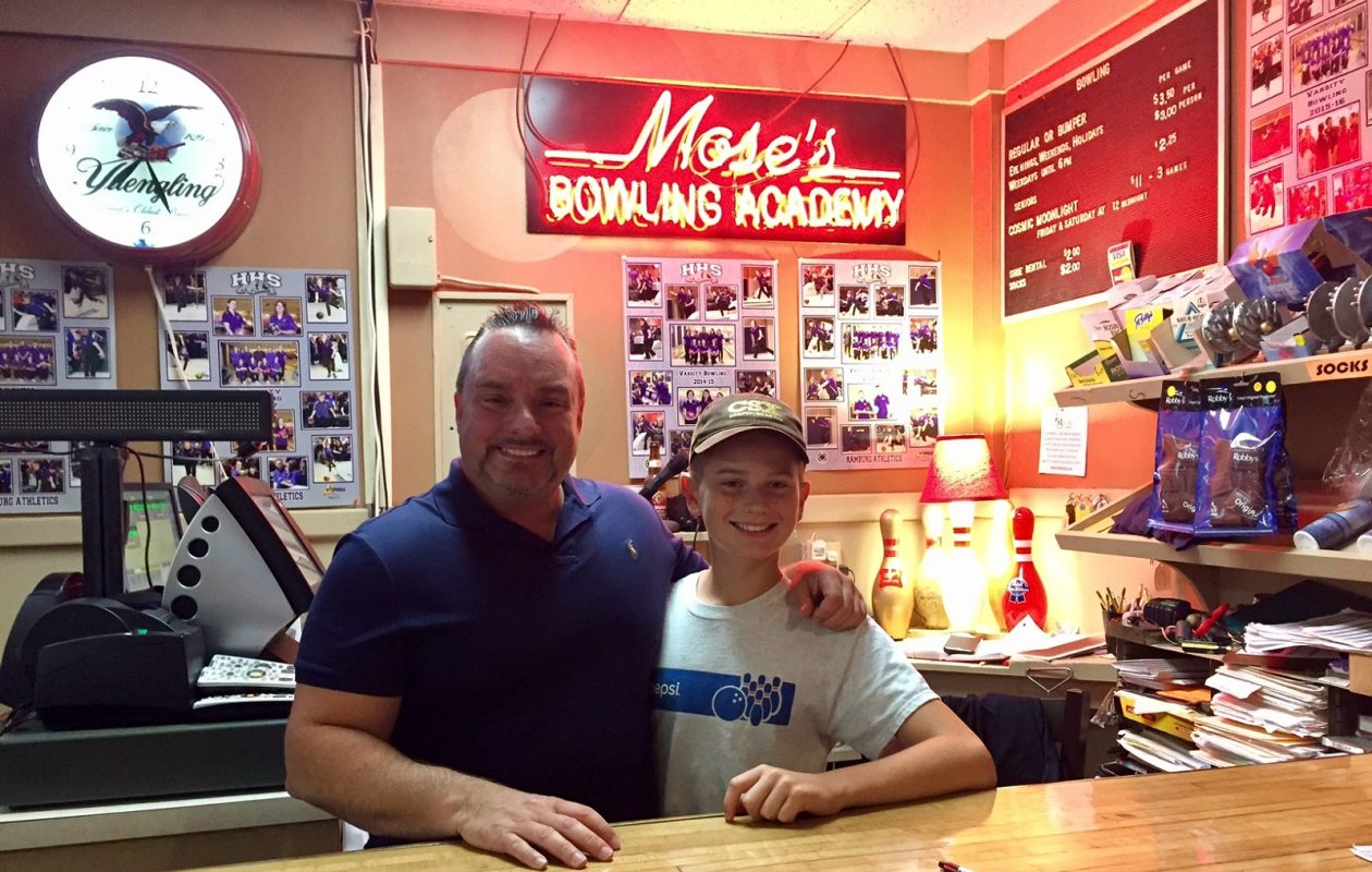 Owner Howie Braymiller and his nephew Joe Dayer carry on the family tradition at Braymiller's Lanes, which was originally called Mose's after Howie's grandfather's nickname. (Elizabeth Carey/Special to The News.)