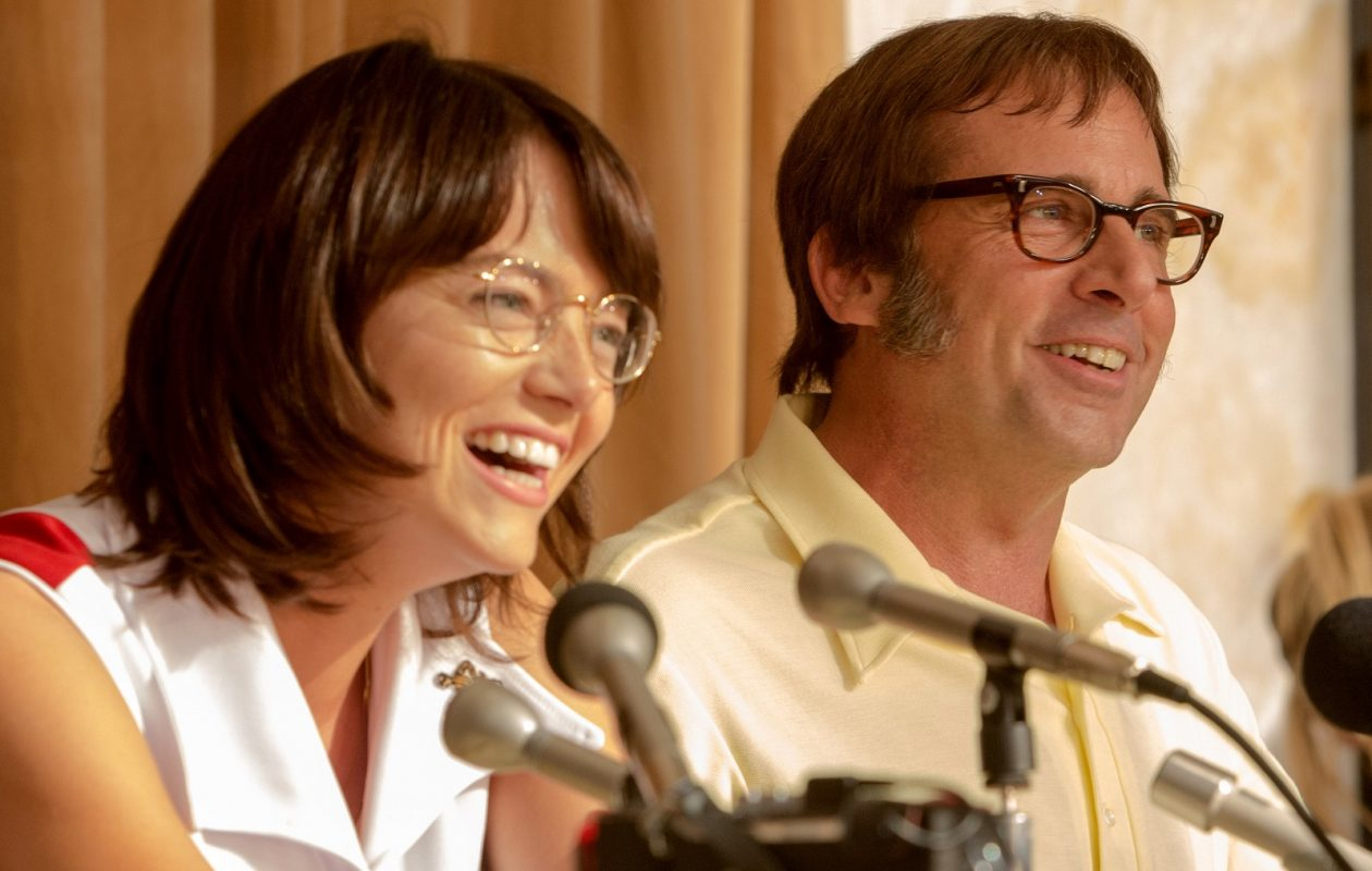 """Emma Stone as Billie Jean King and Steve Carell as Bobby Riggs in """"Battle of the Sexes."""" (Melinda Sue Gordon, Fox Searchlight Pictures)"""