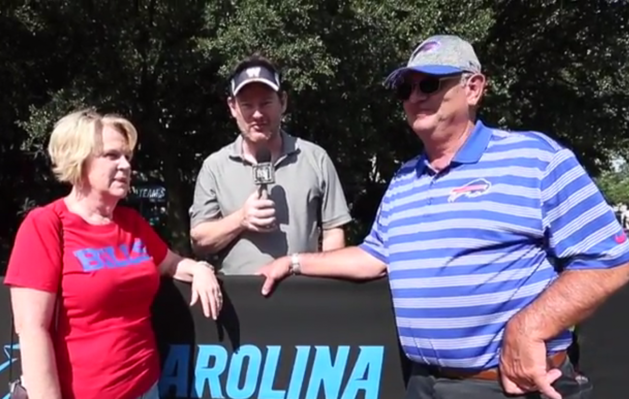 A still from Cindy and Bob Beane's interview with Tim Graham.