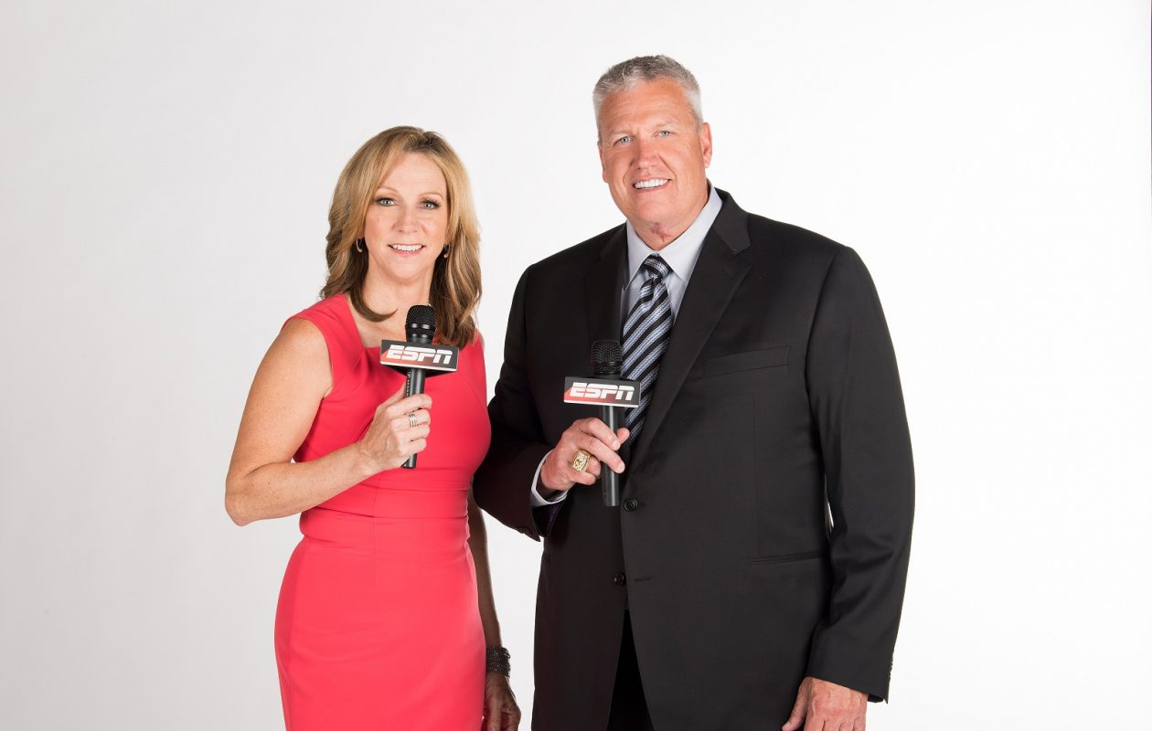 Beth Mowins and Rex Ryan (Joe Faraoni/ ESPN Images)