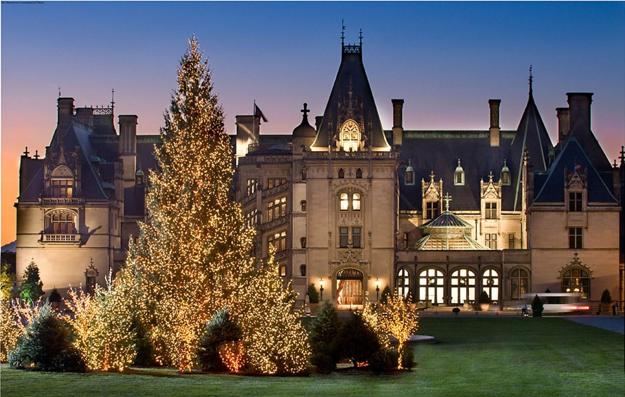 The Biltmore at Christmas time. (PRNewsFoto/Biltmore)