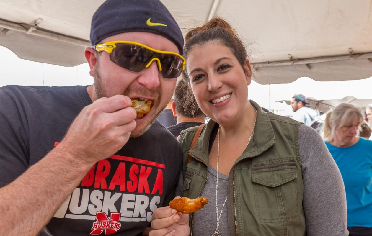 Wing fans get their fill at the National Buffalo Wing Fest at Coca-Cola Field on  Saturday, Sept. 2, 2017. (Don Nieman/Special to The News)