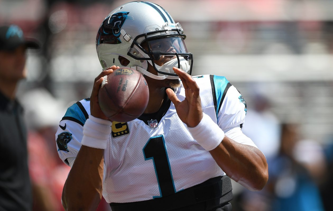 Panthers quarterback Cam Newton significantly increases the challenge for the Bills' defense. (Thearon W. Henderson/Getty Images)