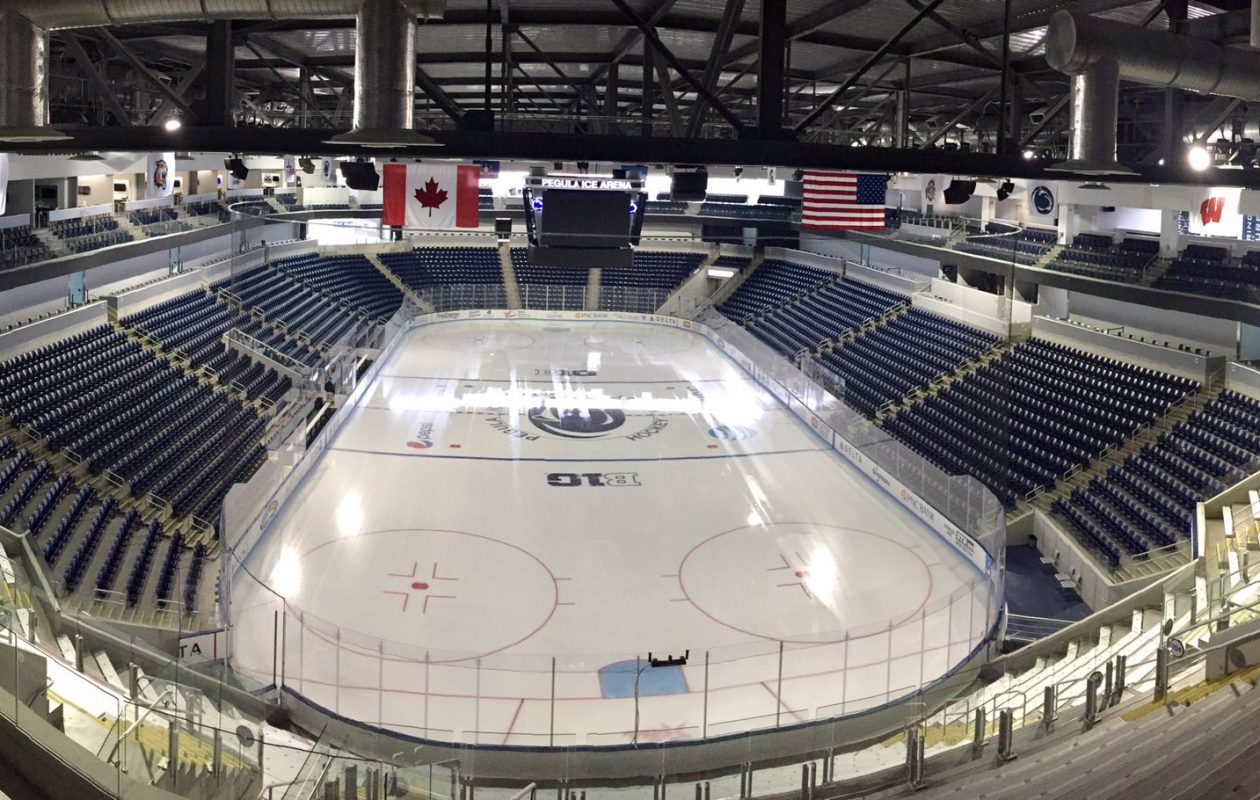 The Sabres are heading to Pegula Ice Arena on the Penn State campus for the second straight year. (John Vogl/Buffalo News file photo)