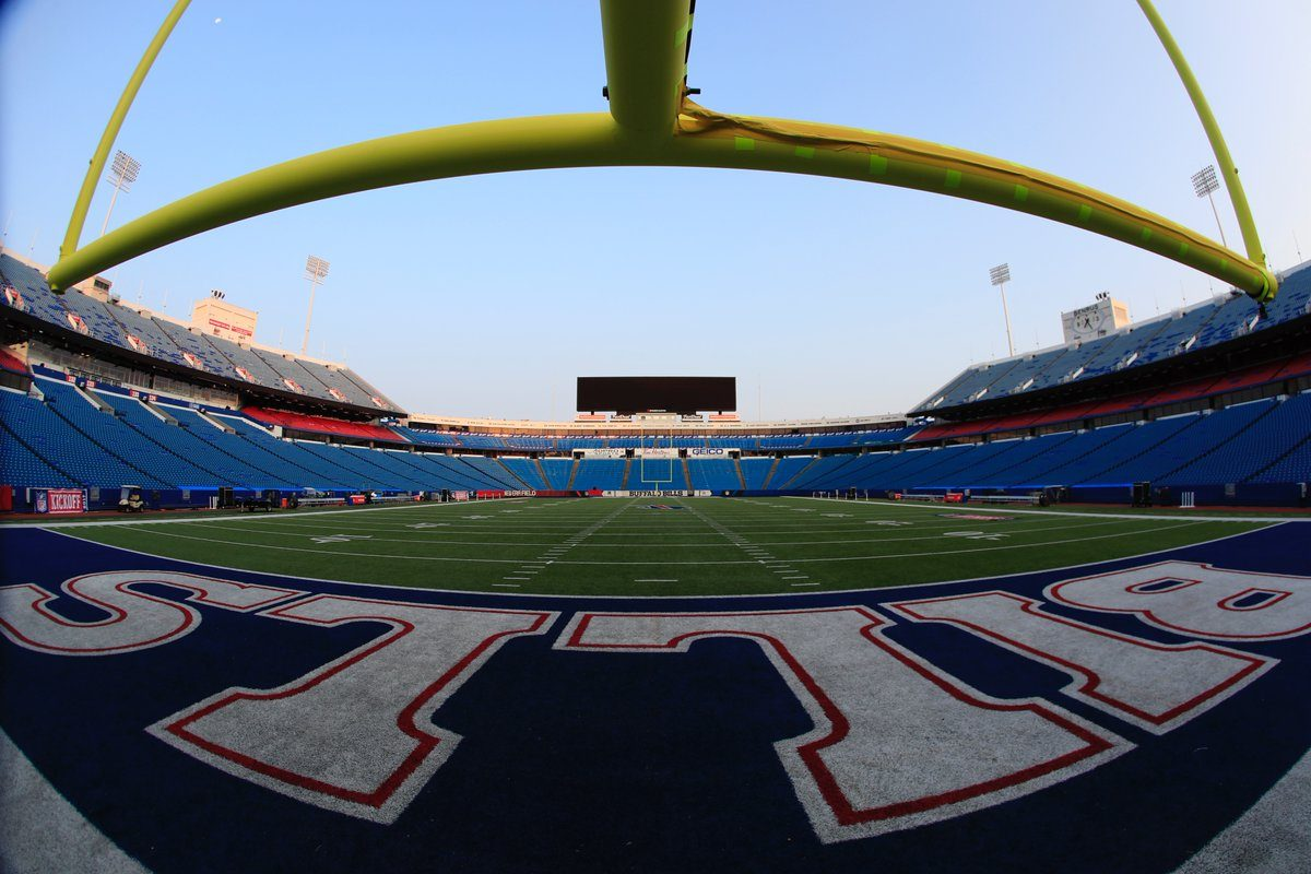 An empty New Era Field prior to the Buffalo Bills' season opener against the New York Jets. (Harry Scull Jr./Buffalo News)