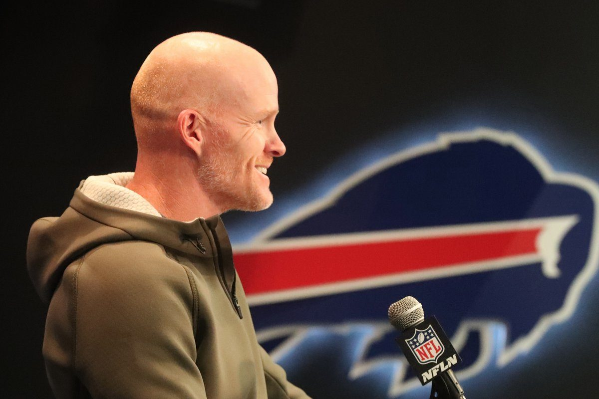 Bills coach Sean McDermott isn't making a big deal about his upcoming trip to Carolina. (James P. McCoy/Buffalo News)