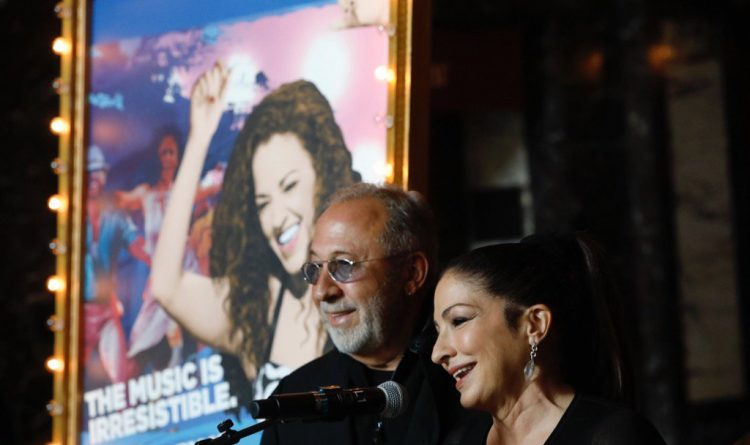 Gloria and Emilio Estefan feel the love at Shea's launch of 'On Your Feet!'