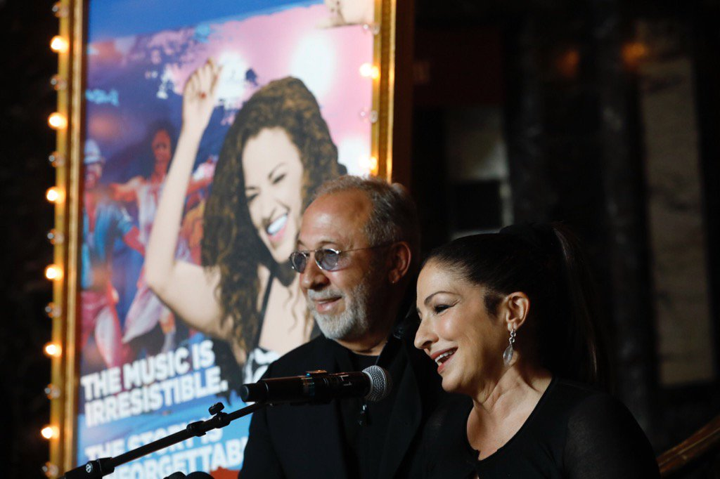 Cuban-American music legends Emilio and Gloria Estefan appeared in Shea's Performing Arts Center Thursday morning for the launch of the musical 'On Your Feet!' (Derek Gee/Buffalo News)