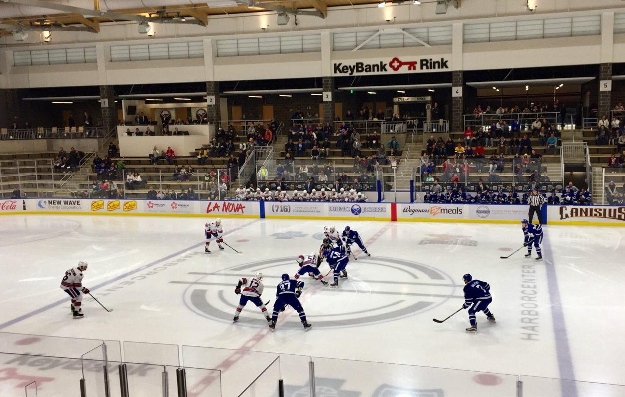 The Rochester Americans closed their preseason against Toronto on Saturday in HarborCenter. (John Vogl/Buffalo News)