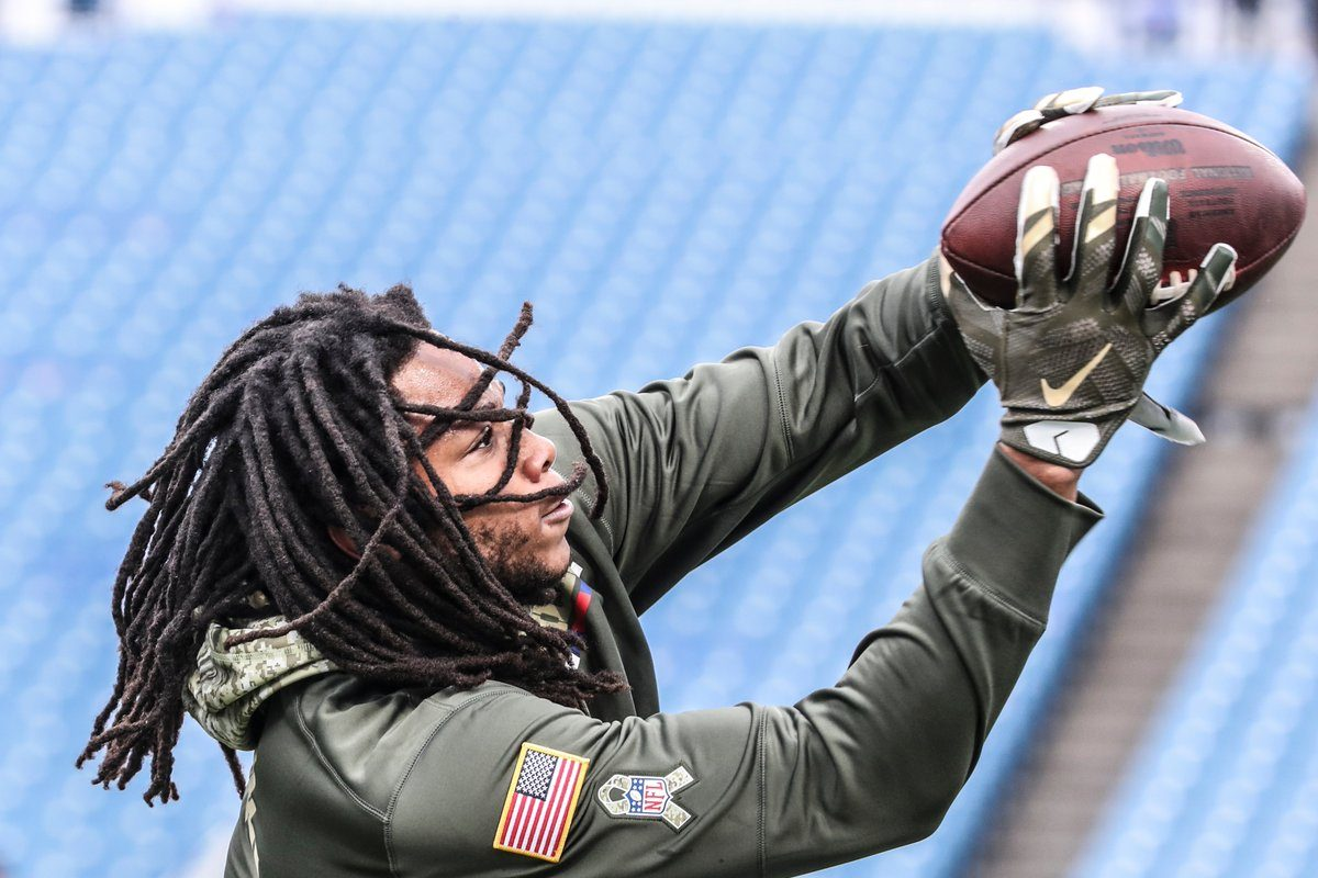 Bills WR Kelvin Benjamin has been downgraded to out from last Sunday's knee injury and will not travel to Kansas City. (News file photo)