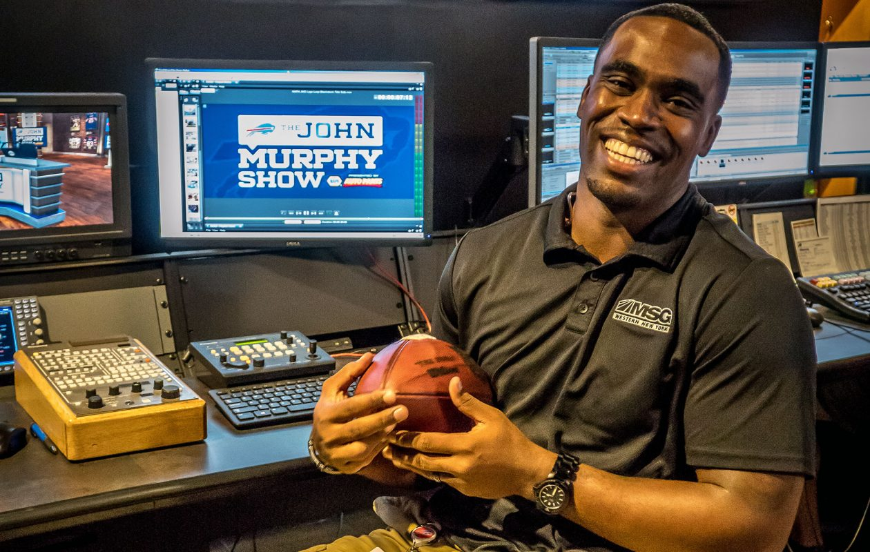 The Donald Murphy Show featuring Donald Jones airs daily from noon to 3 p.m. on WGR Sports Radio 55, simulcast on MSG-TV. (Alicia Wittman)