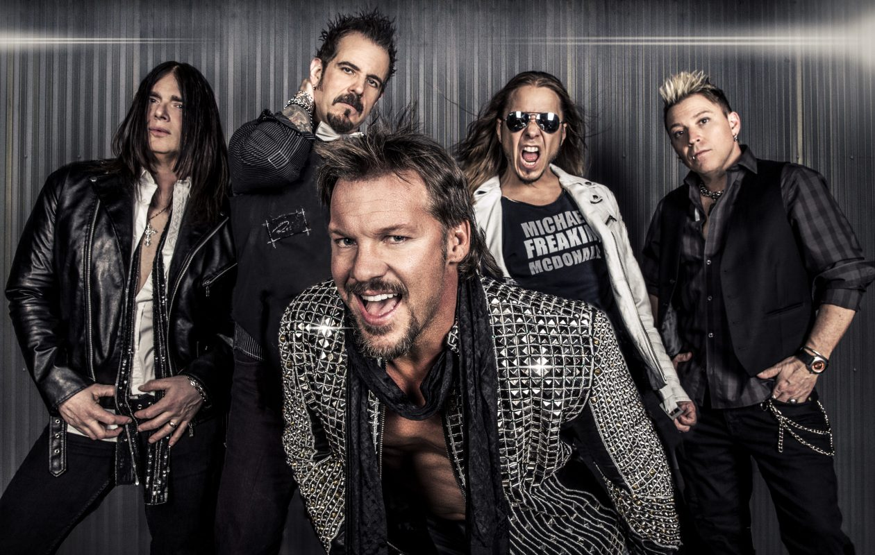 Seven years ago, WWE wrestler Chris Jericho, center, decided to make the rock-metal band Fozzy his top focus. The band plays Rapids Theatre in Niagara Falls on Oct. 3. (Photo courtesy Century Media Records.)
