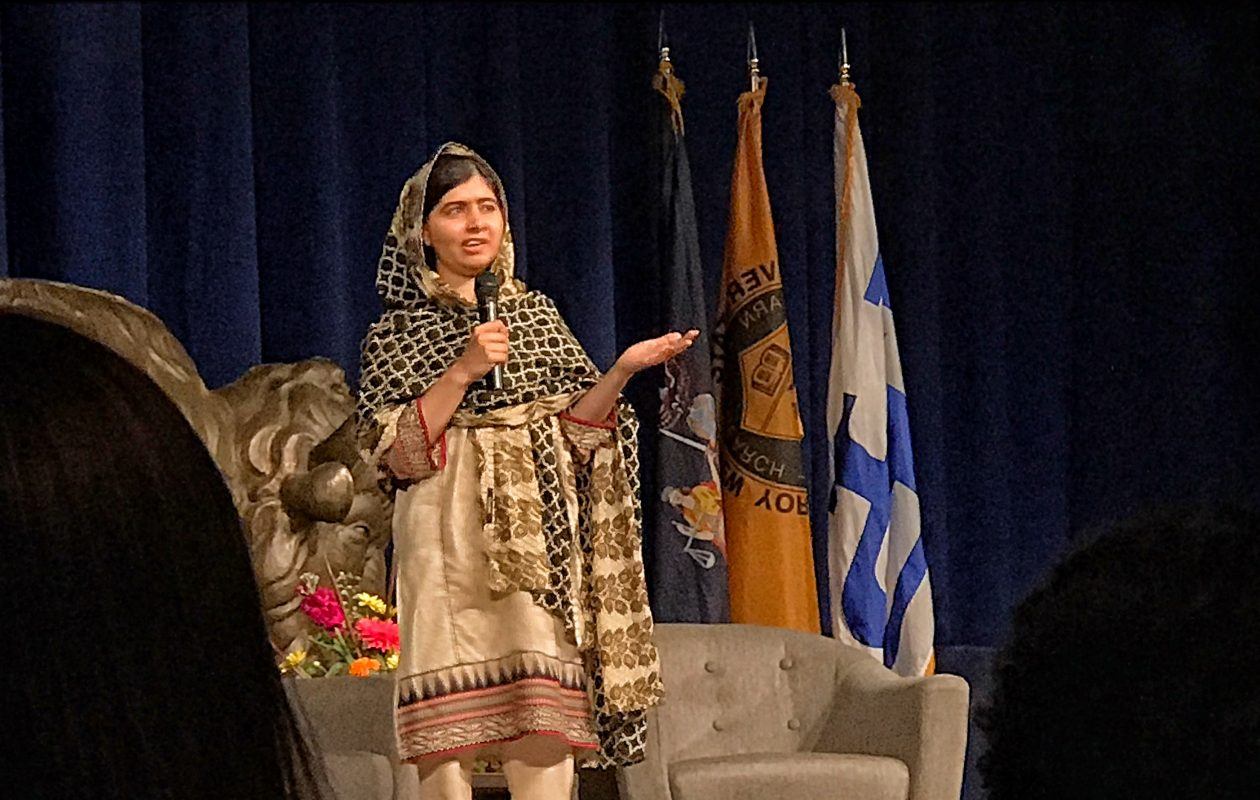 Pakistani Nobel Peace Laureate Malala Yousafzai  told an audience at UB: ''I am here to represent all of the Pakistani people who believe in peace, who believe in the power of education.' (Cathaleen Curtiss/Buffalo News)