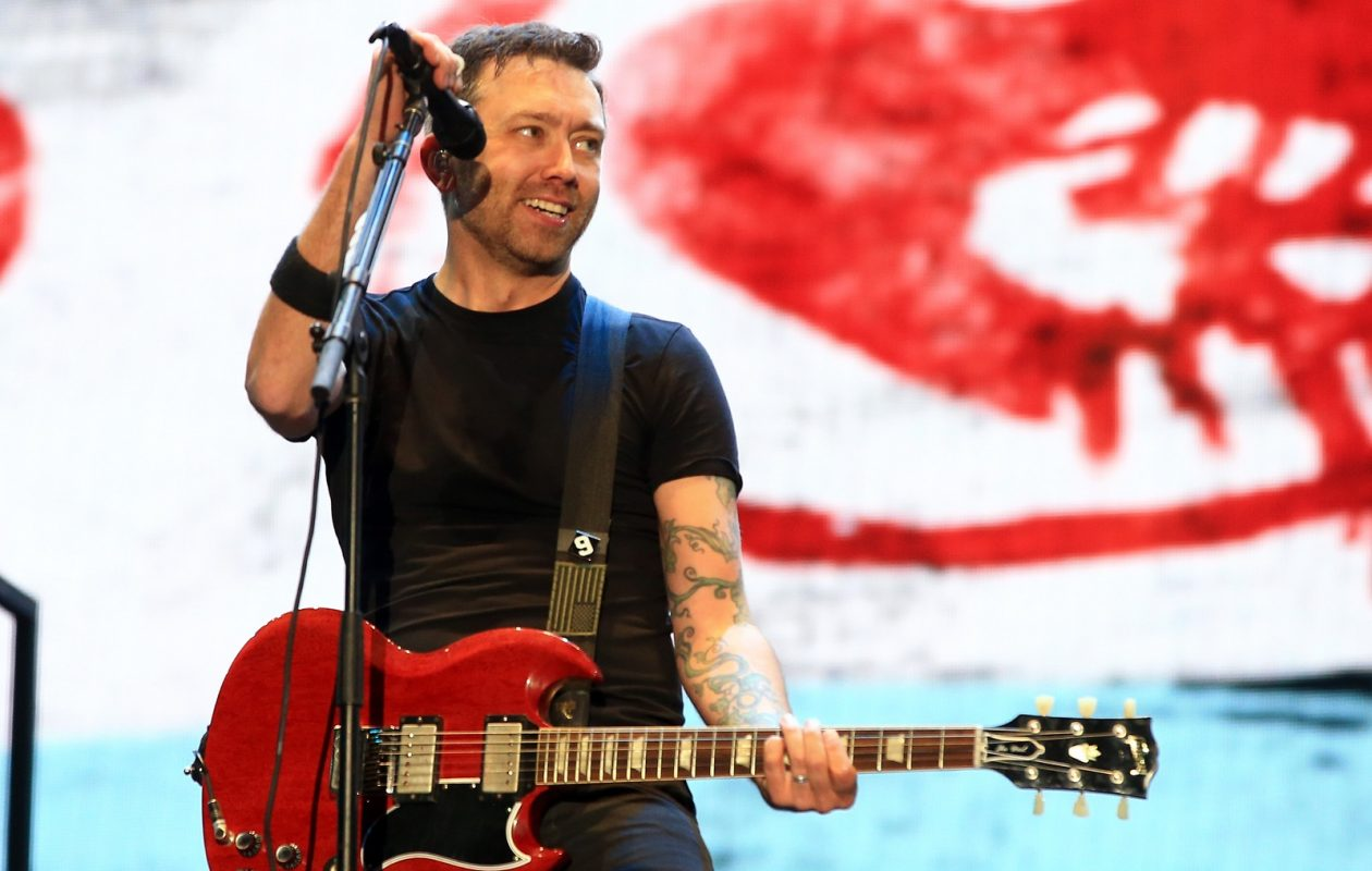 Tim McIlrath of Rise Against performs onstage during Rock in Rio USA at the MGM Resorts Festival Grounds in May 2015. (Christopher Polk/Getty Images)