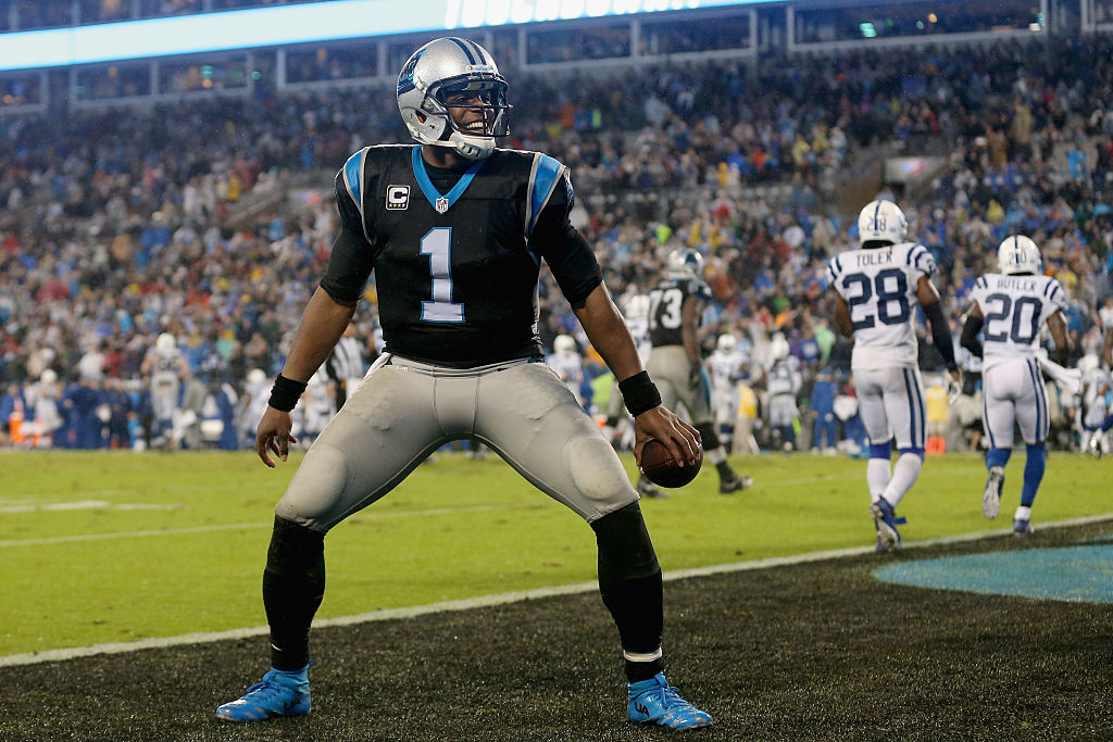 Will Cam Newton be celebrating against the Bills? (Getty Images)