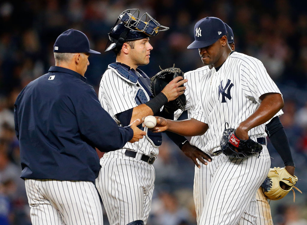 Would Joe Girardi ask for the ball from Luis Severino even before the playoffs started?  (Getty Images)