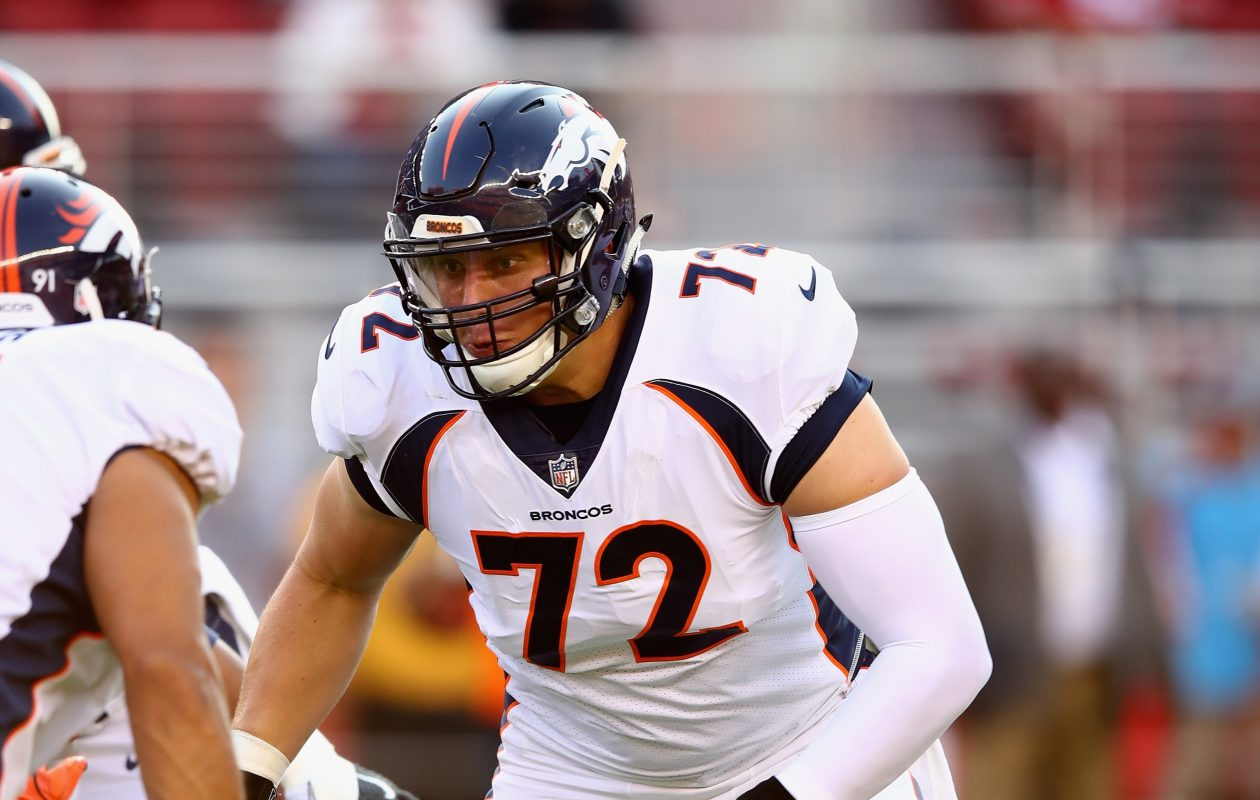 Garrett Bolles, Denver's rookie starter, suffered a bone bruise to his lower left leg and may not play against the Bills. (Getty Images)