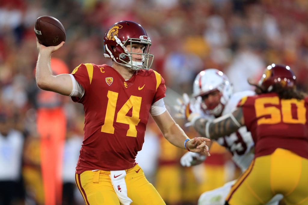 The Bills will be seeing new Jet Sam Darnold twice a year. (Getty Images)