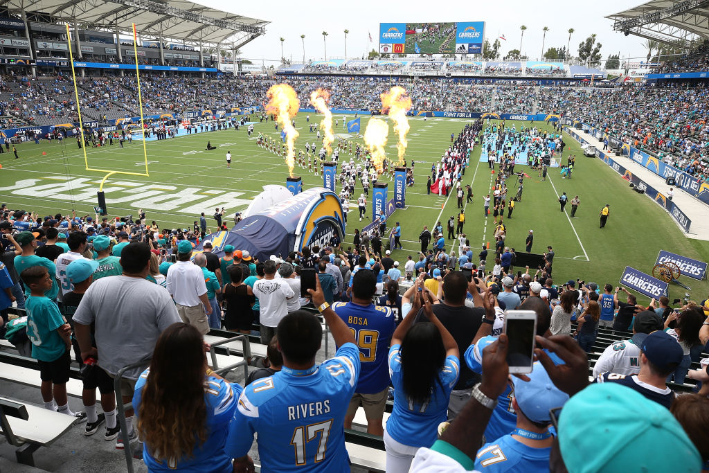 A general view before the game between the Los Angeles Chargers and the Miami Dolphins at the StubHub Center on Sept. 17, 2017.  (Photo by Sean M. Haffey/Getty Images)