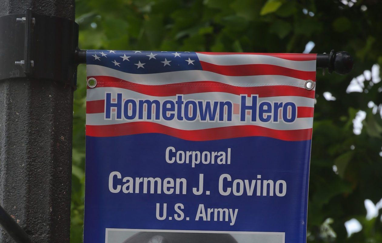Applications are being accepted for next year's Hometown Heroes banners in Hamburg. (John Hickey/Buffalo News)