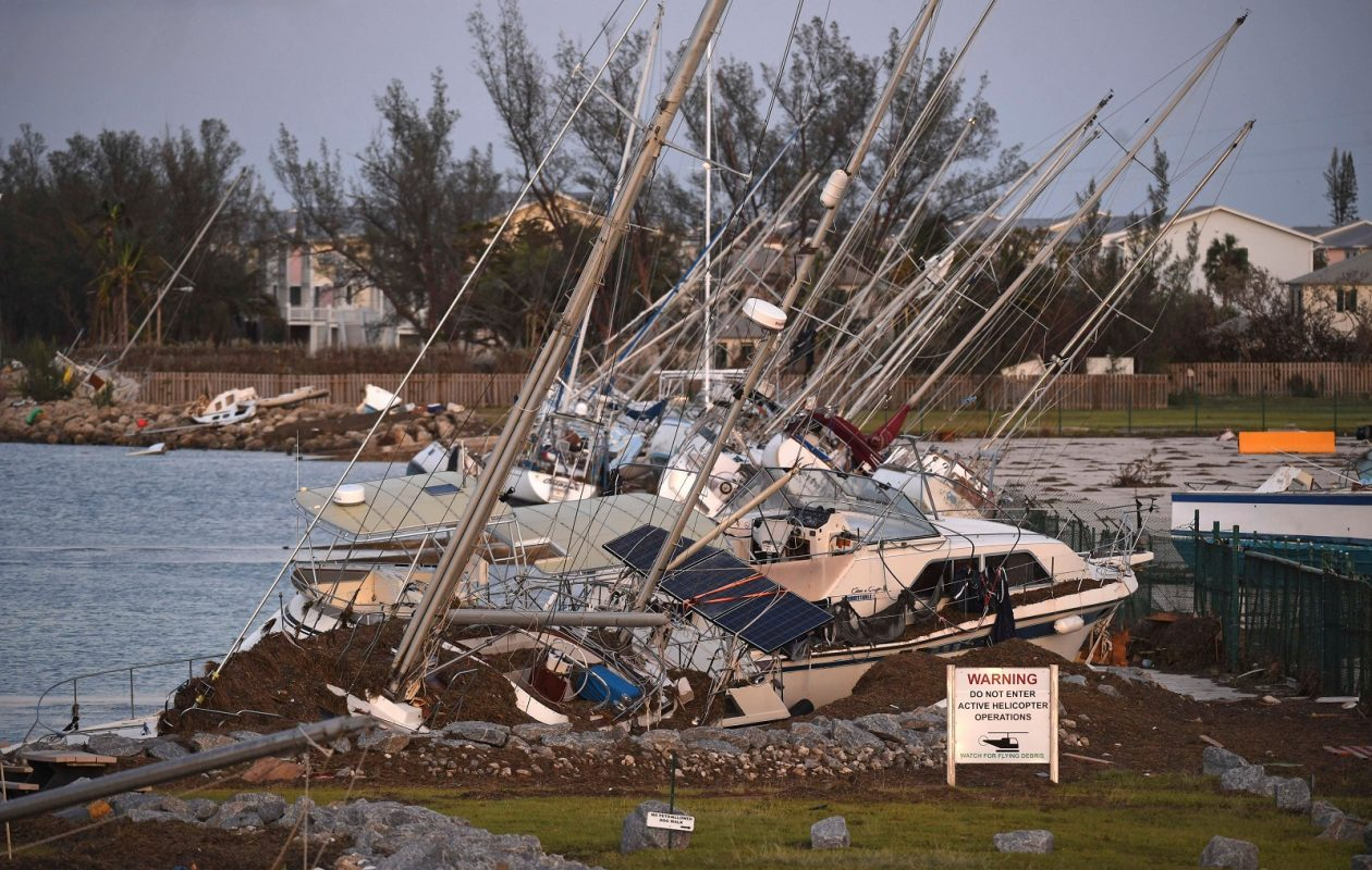 Damaged sail boats are shown in the aftermath of Hurricane Irma  on in Key West, Fla. (Matt McClain -Pool/Getty Images)
